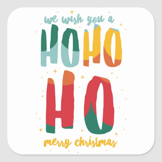 HOHOHO /ALT COLOR SQUARE STICKER
