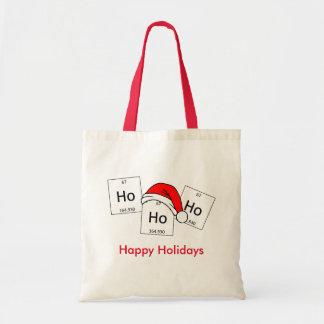 HoHoHo Holmium Chemistry Element Christmas Pun Budget Tote Bag