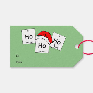 HoHoHo Holmium Chemistry Element Christmas Pun Pack Of Gift Tags