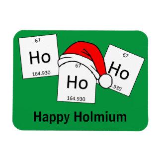HoHoHo Holmium Chemistry Element Christmas Pun Rectangular Photo Magnet