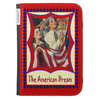 Hoisting the stars and stripes kindle case
