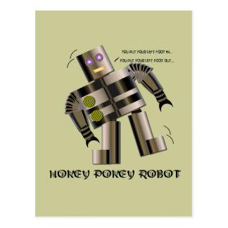 Hokey Pokey Robot Postcard