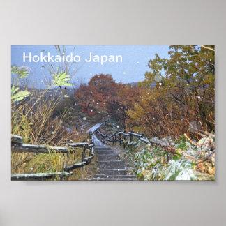 Hokkaido Japan First Snowfall Poster