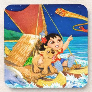 Hoku and Kolohe Pup Follow the Stars Coasters