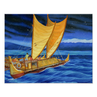 Hokulea Voyaging Canoe Poster