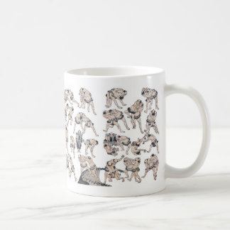 Hokusai and Image of Sumo wrestlers Coffee Mug
