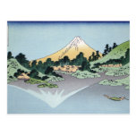 Hokusai Art painting Mountains Postcard