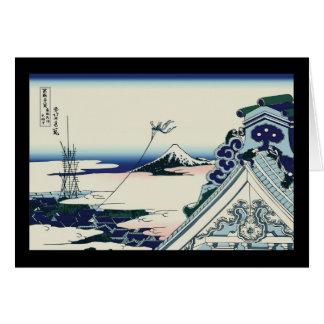 Hokusai Asakusa Hongan-ji temple Greeting Cards