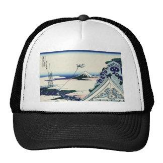 Hokusai Asakusa Hongan-ji temple Hats