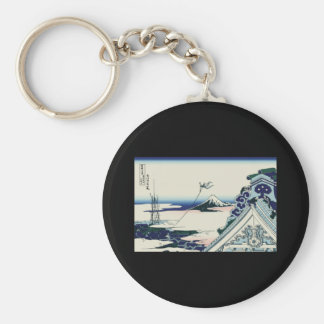 Hokusai Asakusa Hongan-ji temple Key Chain