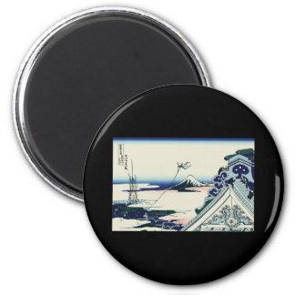 Hokusai Asakusa Hongan-ji temple Refrigerator Magnet