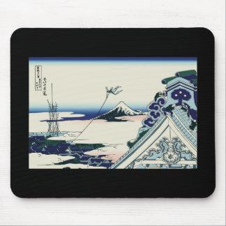 Hokusai Asakusa Hongan-ji temple Mousepad
