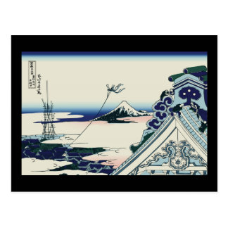 Hokusai Asakusa Hongan-ji temple Postcard