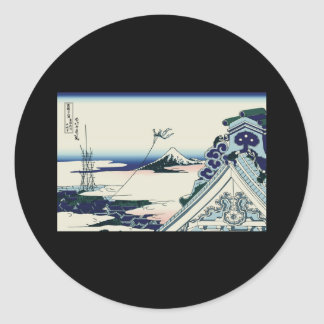 Hokusai Asakusa Hongan-ji temple Sticker
