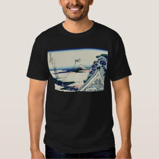 Hokusai Asakusa Hongan-ji temple T-shirts