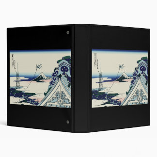 Hokusai Asakusa Hongan-ji temple Vinyl Binder