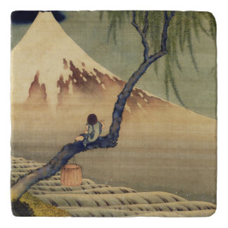 Hokusai Boy Viewing Mount Fuji Japanese Vintage Trivet