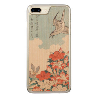 Hokusai Cuckoo and Azaleas Vintage Art GalleryHD Carved iPhone 8 Plus/7 Plus Case