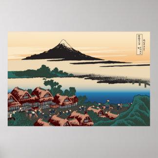 Hokusai Dawn at Isawa Posters