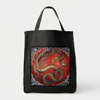 Hokusai Dragon Grocery Tote
