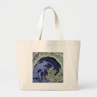 Hokusai Feminine Wave Canvas Bag