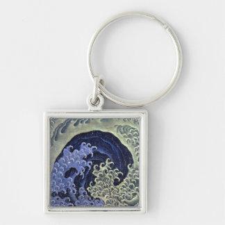 Hokusai Feminine Wave Key Chain