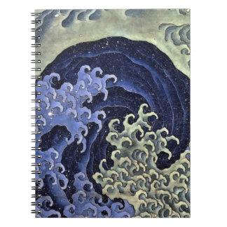 Hokusai Feminine Wave Note Book