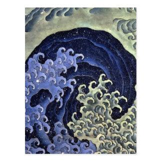 Hokusai Feminine Wave Postcard
