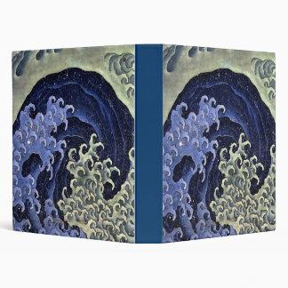 Hokusai Feminine Wave Vinyl Binders