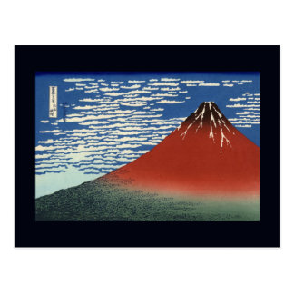 Hokusai 'Fine Wind, Clear Morning' Postcard