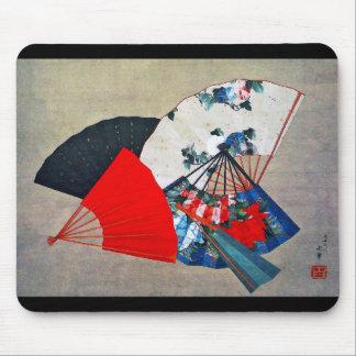 """Hokusai """"Five Fans """" Mouse Pad"""