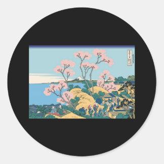 Hokusai Gotenyama Hill Stickers