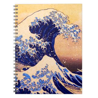 Hokusai great wave notebook