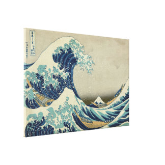 Hokusai Great Wave off Kanagawa Vintage GalleryHD Canvas Print