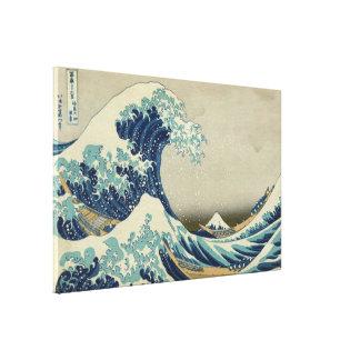 Hokusai Great Wave off Kanagawa Vintage GalleryHD Canvas Print