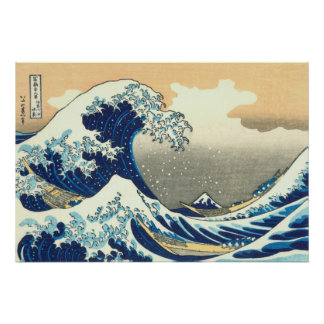 Hokusai great wave poster