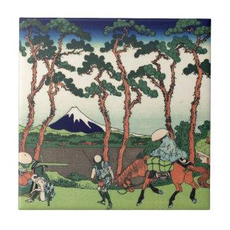 Hokusai Hodogaya on the Tokaido Mount Fuji Kyoto Tile