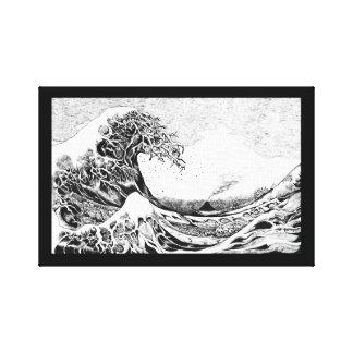 HOKUSAI hommage art panel Canvas Print