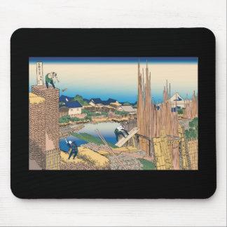 Hokusai Honjo Tatekawa Mouse Pad
