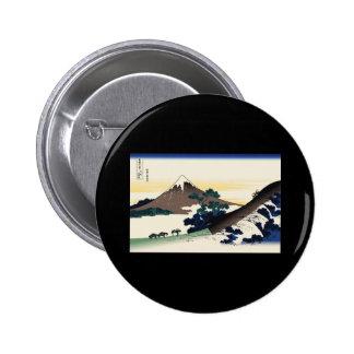 Hokusai Inume Pass Koshu 2 Inch Round Button