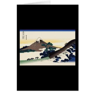 Hokusai Inume Pass Koshu Greeting Cards