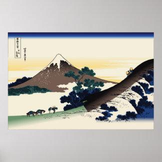 Hokusai Inume Pass Koshu Poster