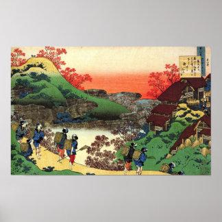 Hokusai - Japanese Art - Japan Cool Landscape View Poster