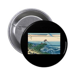 Hokusai Kajikazawa in Kai Province 2 Inch Round Button