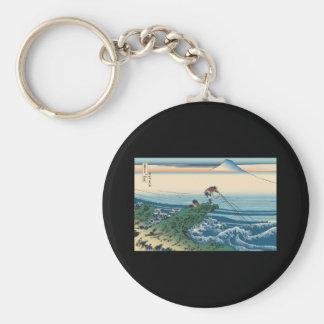 Hokusai Kajikazawa in Kai Province Keychain