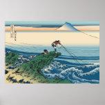 Hokusai Kajikazawa in Kai Province Poster