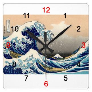 "Hokusai, ""KANAGAWAOKINAMIURA"" Wallclocks"