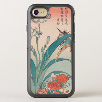 Hokusai Kingfisher Iris and Wild Pinks GalleryHD OtterBox Symmetry iPhone 8/7 Case