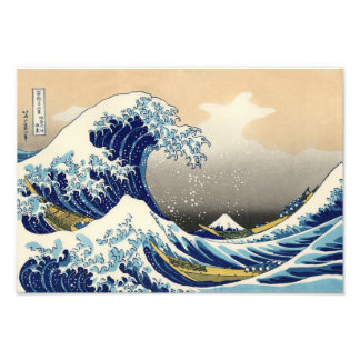 Hokusai la grande copie de vague photographie d'art