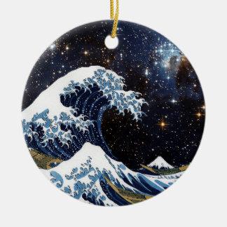 Hokusai & LH95 Ceramic Ornament